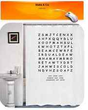 Shower Curtain Wordsearch Quality Novelty 180 x 180 cm White Novelty