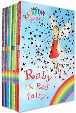 Rainbow Magic Colour Fairies Collection 7 Books Pack Set- Ruby the Red Fairy,Amb