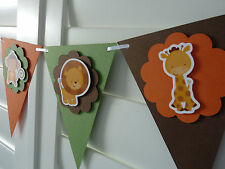Jungle Safari Animals Party Banner Bunting - party decoration baby shower