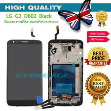 For LG G2 D802 Full LCD Display Digitizer Touch Screen Assembly + Frame Black