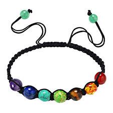 Chakren Armband mit 7 Chakrensteinen je 8 mm größenverstellbar Shamballa 9 Beads