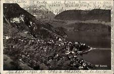 Gersau Kanton Schwyz Schweiz  s/w AK 1927 gelaufen Gesamtansicht mit See Berge
