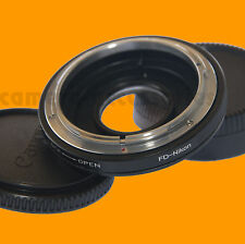 Canon FD Lens to Nikon body Mount Adapter Infinity focus With correctional glass