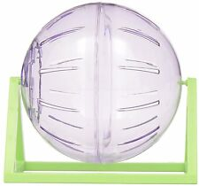 LIVING WORLD CLEAR DWARF HAMSTER MOUSE PLAY EXERCISE BALL WITH STAND 12CM 61720