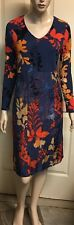Blue Illusion Shift Dress Stretchy With Sheer Silk Overlay Sz S