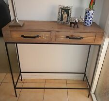 Metal & Timber Console Table/Hall Table/Desk*Industrial*French Provincial