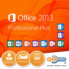 MS Microsoft Office 2013 Professional Plus für 2PC • Vollversion • Original