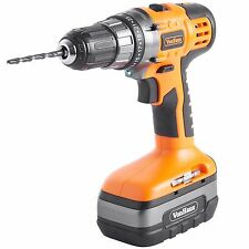 VonHaus 18V Cordless Ni-Cd Screwdriver Drill Driver with 13 Piece Accessory Kit