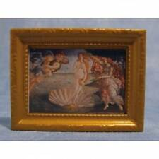 Dolls House Miniatures 1/12th Scale Venus Shell Framed Picture New (D959)
