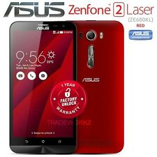 "New Unlocked ASUS Zenfone 2 Laser ZE600KL Red 6"" IPS Android 4G LTE Mobile Phone"