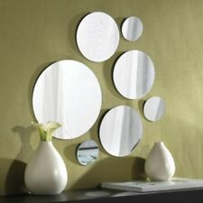 BATHROOM MANTEL HALL NOVELTY SET OF 7 LARGE SMALL ROUND WALL MOUNTED MIRRORS