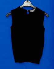 ~DOROTHY PERKINS~BLACK ROUND NECK SLEEVELESS TOP~SIZE 8~