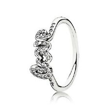 Auth Genuine Pandora S925 Sterling Silver Signature of Love Ring Size52 190928CZ