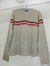 Mens H&M L.O.G.G. Jumper With 80% Lambswool V-Neck Size XL Grey Red Burgundy