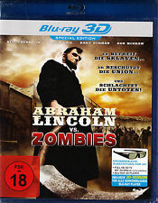 Abraham Lincoln vs. Zombies - BluRay 3D Special Edition - *NEU*