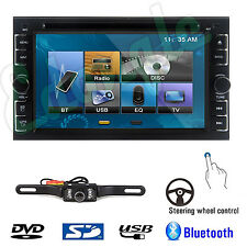 """Camera+Double 2 Din 6.2"""" In Dash Stereo Car DVD MP3 Player Bluetooth Radio iPod"""