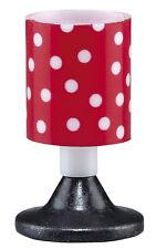 Nachttischlampe 3,5V Tischlampe rot/schwarz für Puppenhaus, Kahlert 10483
