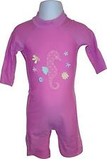 USED Girls Pink And White Poke Dot Swimsuit 9-12Months (C.E)