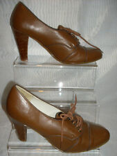 Ladies(Dorothy Perkins) Brown Formal  Lace -Up High Heel Shoes Size: 3/36