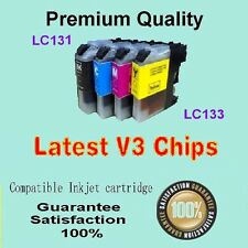 12 Brother Comp LC133/LC131 Ink Cartridge with chip for DCPJ552DW Printer V3