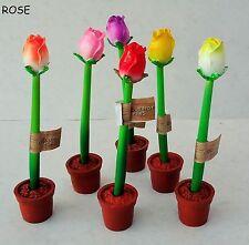 12 x novelty FLOWER PENS (roses), Great girls party, goody, bag filler, bargain