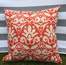 Red Pattern Cushion Cover, Designer, Vintage, Luxury, Cotton Canvas, Traditional