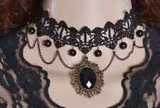 Gothic Lace Vintage Choker Victorian Pendant Collar Retro Necklace UK Seller