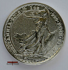 2016 Silver Britannia, unc: 1oz Troy ounce Fine Silver Bullion Coin