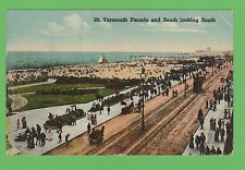 Vintage Postcard. Great Yarmouth Parade and Beach looking South, Norfolk. 1924