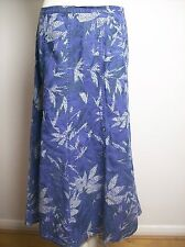 Marks and Spencer Skirt Plus Size UK 20  Floral  Purple White Calf Length