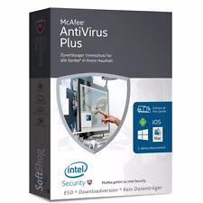 McAfee AntiVirus Plus 2016 * 1, 3, 5, 10 unbegrenzte PC/Geräte * DE * Lizenz