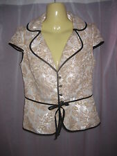 Review NWOT Gorgeous Floral Jacket Size 6-8
