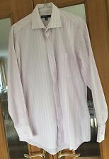 Mens Light Pink Striped Shirt Size 15""