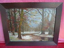 schönes,altes Gemälde__Fuchs im winterlichem Wald__signiert__!