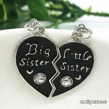 Best sisters Combo Heart-shaped Pendant & Chain Necklace New Fashion Gifts ZON