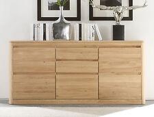 Kommode Anrichte massiv Eiche Sideboard für Wohnzimmer Esszimmer Möbel Naturel