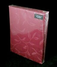 """Burgundy Curtains Jacquard 66"""" x 72"""" Fully Lined Floral Design 2 Tie Backs"""