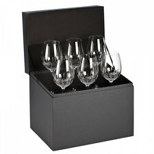 NEW Waterford Crystal LISMORE ESSENCE Set of 6 GOBLET Red Wine Glasses
