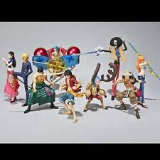 Set of 9pc One Piece The New World Luffy Zero Brook Japanese Anime Figures Toy B