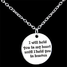 Compact Love Silver Charm Pendant Chain Bib Statement Necklace Xmas Gift TR58
