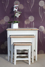 Shabby Chic Casamoré Cotswold Nest of 3 Tables White Painted French Style