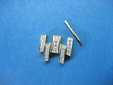WITTNAUER SWISS 12M10 PARTS LINK LADIES WATCH GOLD PLATED & CRYSTAL 14 MM LINK