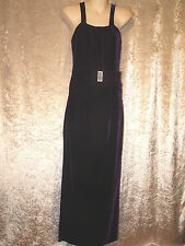 Leaver's Prom Formal Gown Long Black Velvet Dress - Black Sequin Neckline