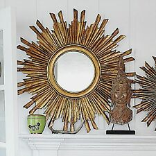sunburst starburst round wall art mirror gold leaf gilt gilded sun burst new 35