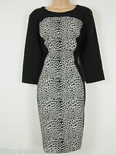 BNWT Savoir Confident Curves Secret Support Black Illusion Pencil Dress Size 16