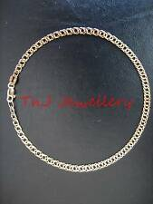 Genuine Authentic 9ct Solid Gold Oval Double Curb Diamond Cut Ladies Bracelet