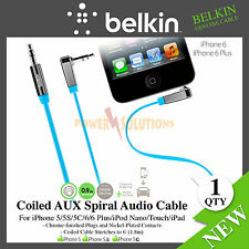 Belkin MixIt Colour Range 0.9m Flat Right Angle AUX Cable for iPhone 6 6s 6 Plus
