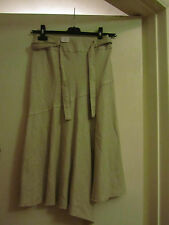 Long Beige Linen Blend New Look Skirt in Size 8 - NWT but creased