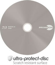 5 Primeon Blu-Ray BD-RE Dual Layer ultra protect disc 50GB 2x Papiertasche