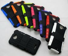 Strong Heavy Duty Durable Tradesman TPU Hard Case Cover Stand for HTC One X XL